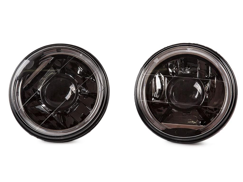 Headlight Element tuning black H4 Pair Lada Niva 2121 2101