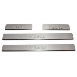Cover plates for Vesta door openings, chrome