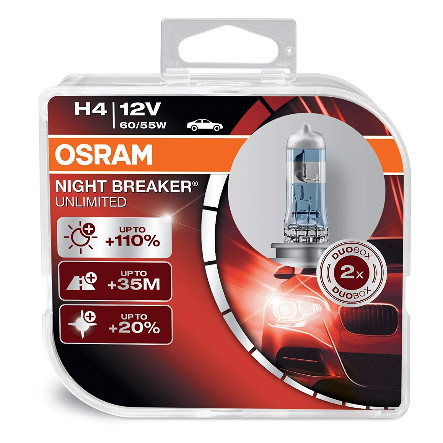 OSRAM NIGHT BREAKER LASER H4, next generation, +110%