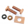 LADA NIVA 1600, 1700, 2101-2107, Repair Kit Starter: copper bolt copper washer, copper plate for starter