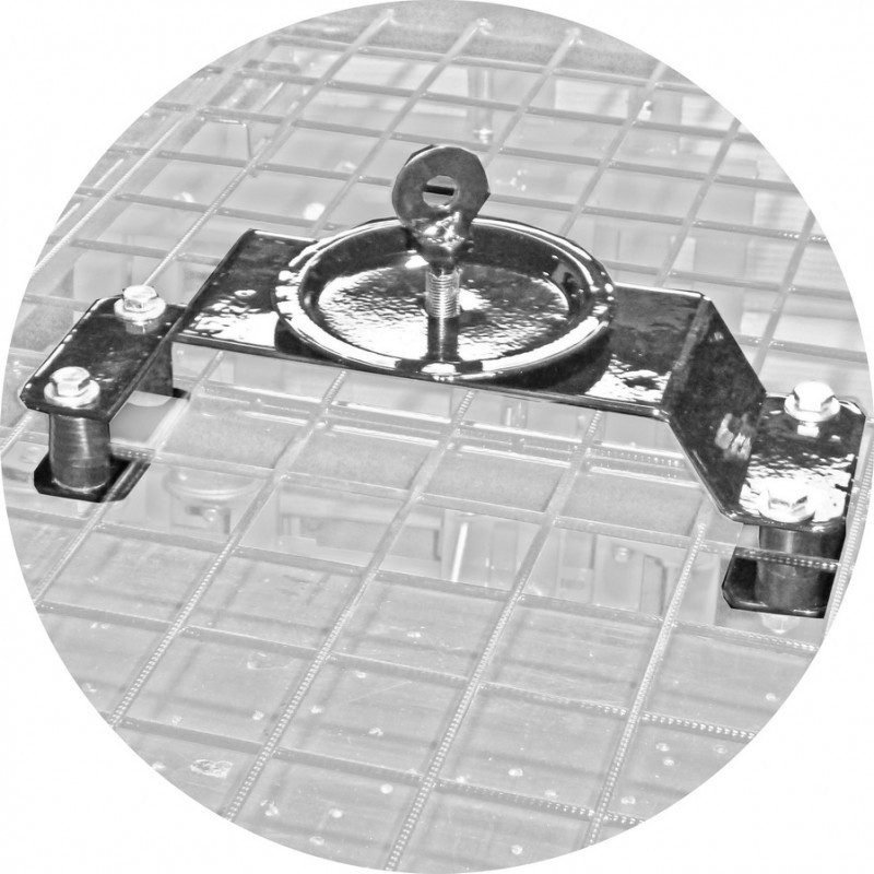 Bracket of fastening of a spare wheel on the roof (racks art. 0350 - 0361) 21214-31